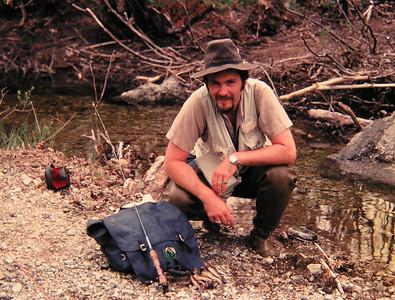 Tom  fishing N Fk Bouquet River, june 1979