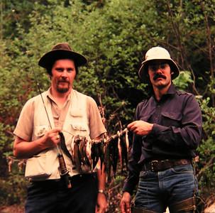 Tom & Bob Allen 1, fishing N Fk Bouquet River, june 1979