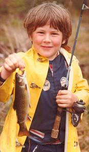 David's 1st trout,BoyScoutPd,RayBrook,NY,june1980