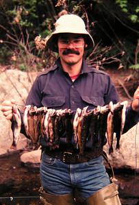 Bob Allen 1, fishing N Fk Bouquet River, june 1979