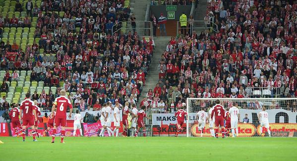 Landskamp Polen - Danmark i Gdansk. Foto: Martin Bager.