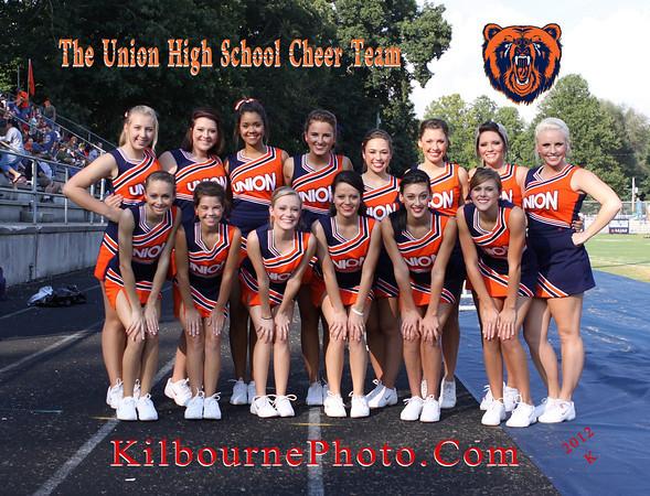 The Fantastic Cheer Team of Union High School of Big Stone Gap, Virginia.