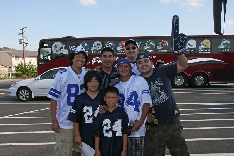 "getting ready to head to the game ""GO COWBOYS"""