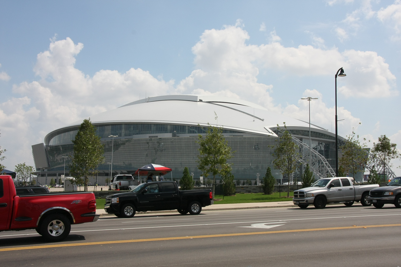 Here it is , the new home of the Dallas Cowboys, i took this from across the street about 7 hrs before the game.