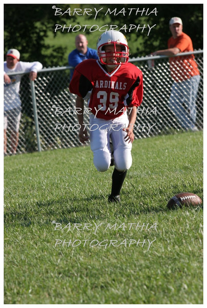 Lawson Cardinals Pop Warner vs Liberty 06 1036