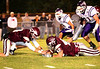 Dobyns-Bennett #42 Brandon Thompson and #4 Bo Burton scramble for a loose ball during Friday's game against Sevier County. Photo by Erica Yoon