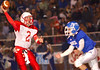 Kelly QB #2 Matt Dotson, scrambles to get rid of football as Gate city's #4 Payton Jenkins closes in for the tackle. Photo by ned Jilton II
