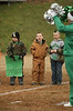 Isaac Lusk, Derek Mullins and P.J. Hamilton get ready to cheer for the Clintwood HS Football team. Photo by Erica Yoon