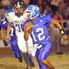 Gate City QB Tihlee Anderson, #12, breaks into the open and heads into Battle territory. Photo by Ned Jilton II