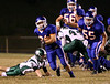 Volunteer's Isaac Hutchins (#21) rushes down the field with the Greenville defense in hot pursuit.  Photo by Kyle Stinson.