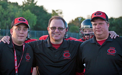 JV Coaches (from left) - Coach Binkley, Coach Cepeda, Coach Nelson