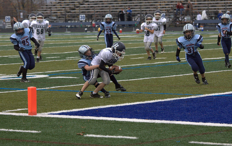 Lucas fighting for the end zone