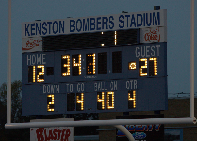 I usually forget to get shots of the scoreboard.