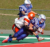 Gate City's #31, Joseph Vaughn, dives into endzone dragging Honaker defender with him for touchdown. Photo by Ned Jilton II