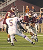 D-B running back #8 makes a cut back on a rushing play against Sevier County. Photo by Jonathan McCoy.