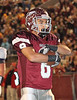 D-B running back #8 poses with the football after scoring a touchdown against Sevier County. Photo by Jonathan McCoy.