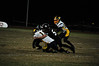 Nashoba Publishing/Ed Niser<br /> <br /> Groton-Dunstable freshman linebacker Justin Griffith makes a tackle in a non-playoff game against Quabbin.