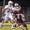 Star Photo/Larry N. Souders<br /> The Warriors Dylan Street (8) cuts back and looks for running room as he take a first quarter punt from Unaka to the house for a touchdown.