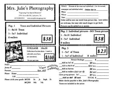 Sports Photo Package Order Form Tekil Lessecretsdeparis Co