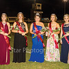 Star Photo/Larry N. Souders<br /> Friday night was Homecoming at Unaka High School. The queen along with her princess court were crowned during halftime activity. Pictured from left to right are Lorelei Sexton (Sp), Tenaia Woolwine (Jr), Queen Sarah Hardin, Keena Taylor (Sr) and freshman Callie Burrow .