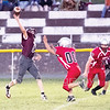 Star Photo/Larry N. Souders<br /> Unaka's quarterback (11) launches a bomb in second quarter action.