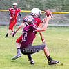Star Photo/Larry N. Souders<br /> Running the tip drill to near perfection a Ranger defender (17) nearly intercepts a pass in the end zone against Cane River Middle School.