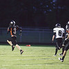 Record-Eagle/Keith King<br /> Elk Rapids' Jeff Xaver runs with the football toward the end zone against Grayling Friday, October 1, 2010 at Elk Rapids High School.
