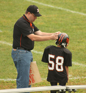 Getting his helmet logo, Dylan is now an honarary Knight!