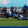 College of San Mateo Bulldogs defeats the  San  Joaquin Delta Mustangs52-7, 2014-09-27