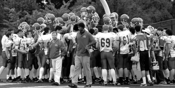 MA Bears Frosh Soph Football 2010 in Black and White