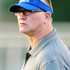 Globe/T. Rob Brown<br /> Seneca head coach during Friday night's jamboree, Aug. 23, 2013, at Webb City's field.