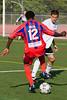 Matthew Mbuta back-heels the ball to Gary Brooks (not pictured.)