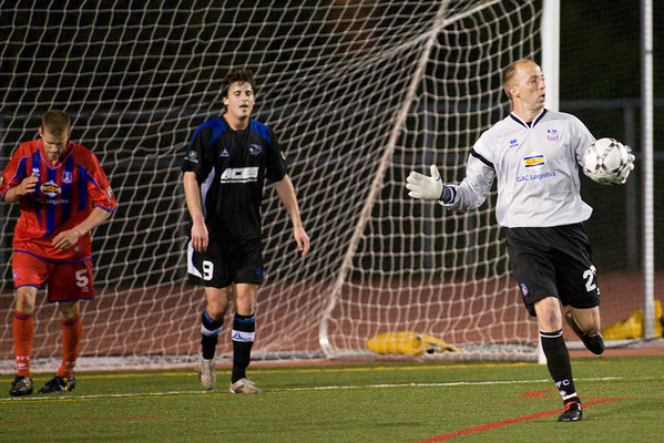 Palace goalie, Matt Nelson.