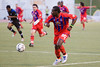 Gary Brooks leads a Palace attack.