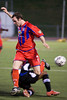Palace left back, Paul Robson challenged by a Pittsburgh player.