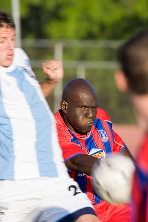 Ibrahim Kante clears.