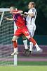 Mike Lookingland jumps with Taylor Twellman