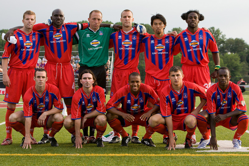 The starting eleven: top - Andrew Marshall, Ibrahim Kante (captain), Matt Nelson, Dan Lader, Shintaro Harada, Gary Brooks; bottom - Paul Robson, Bryan Harkin, Larry Mark, Pat Healey, Matthew Mbuta