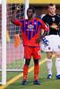 Matthew Mbuta shows his frustration