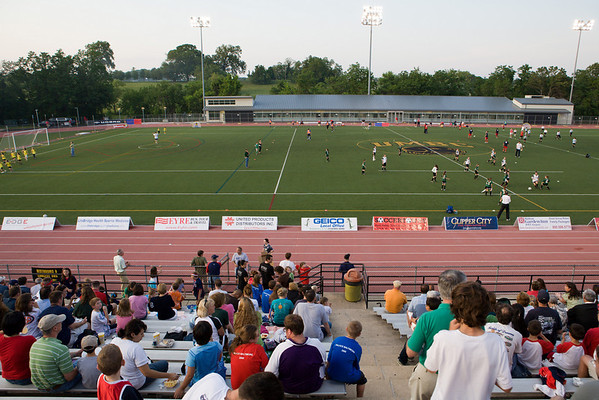 Half-time events featuring kids from several area youth soccer groups
