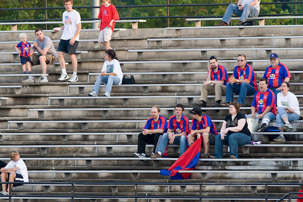 Palace supporters wearing their official replica jerseys