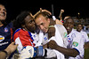 Matt Nelson is mobbed by his teammates after saving three penalties to send Palace through to a third round clash with the New York Red Bulls