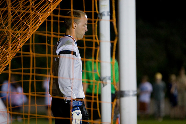 Matt Nelson prepares to make one of his three penalty saves of the shoot-out