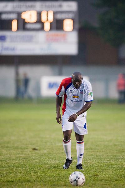Ibrahim Kante lines up a free kick