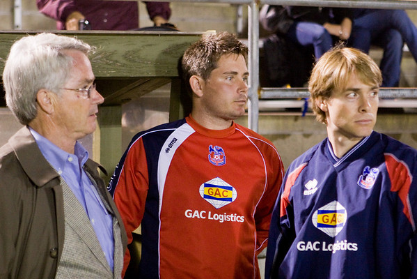 Chairman Randy Medd with Co-Managers Pete Medd and Jim Cherneski contemplate another loss.