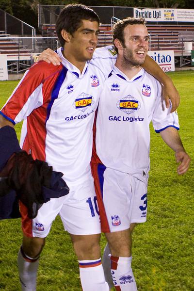 Harold Urquijo and Paul Robson are well chuffed