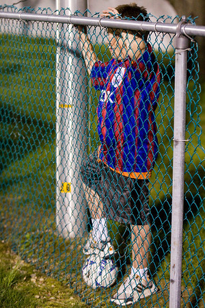 Visiting Palace fan behind the Western Mass goal