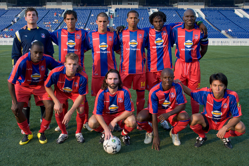 Crystal Palace Baltimore starting 11 vs. Harrisburg City Islanders on July 25th 2007