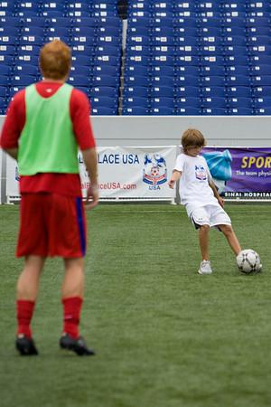 Birthday boy practices with Alan O'Hara