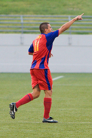 Sergio Flores acknowledges the supporters after scoring Palace's second goal